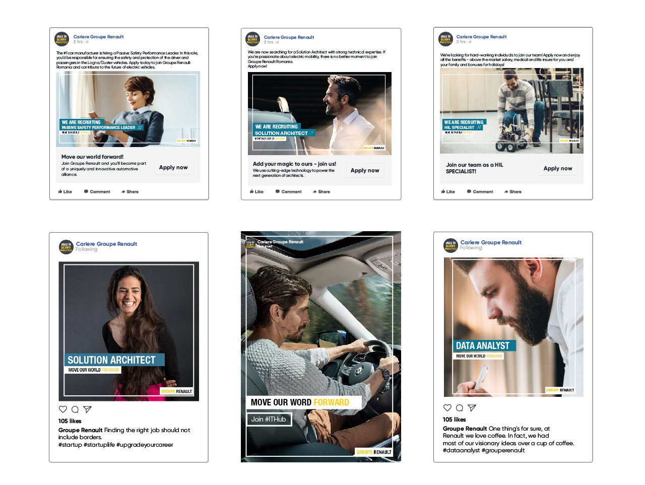 Groupe Renault's Social Media recruitment campaigns