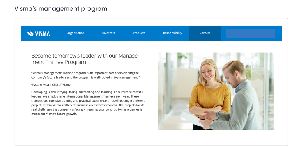 Visma management program