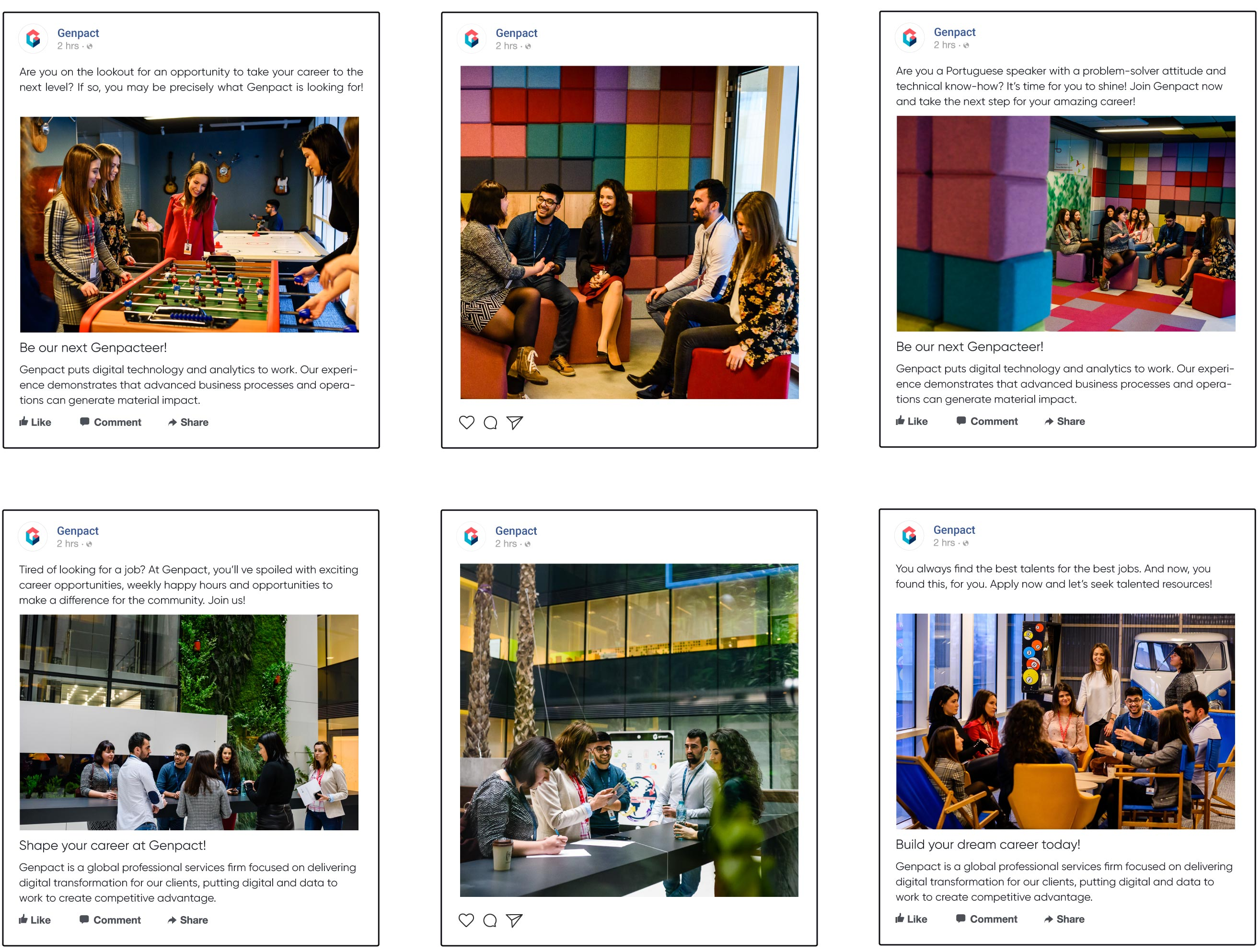 Genpact's social media recruiment campaigns